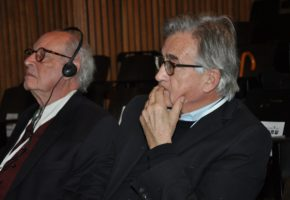 Antony Beevor with Gerhard Weinberg on the final day of the Yad Vashem conference, 20 December, 2012