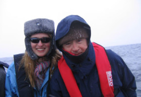 With daughter Nella off the Antartic peninsula, December 2006