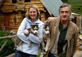 With Nella, Tierra del Fuego, December 2006